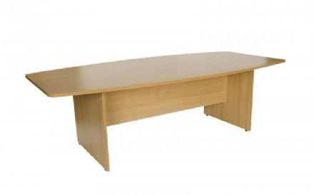 2400mm Light Oak Boat Shaped Boardroom Table